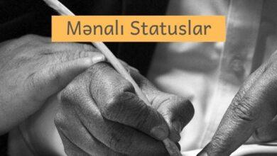Photo of Mənalı Statuslar (2021) ✅